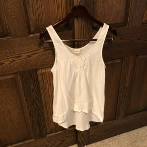 Cute white eyelet embroidered tank top